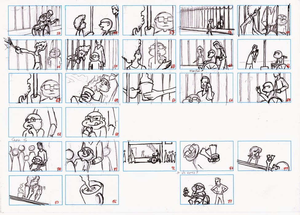 Storyboards for Paol's series