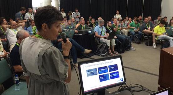 Prior ACM SIGGRAPH Carto BOF Presentation, Photo by Don Brutzman.