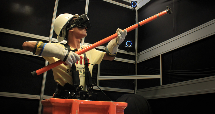 ​Immersive and Interactive Procedure-Training Simulator for High-Risk Power-Line Maintenance