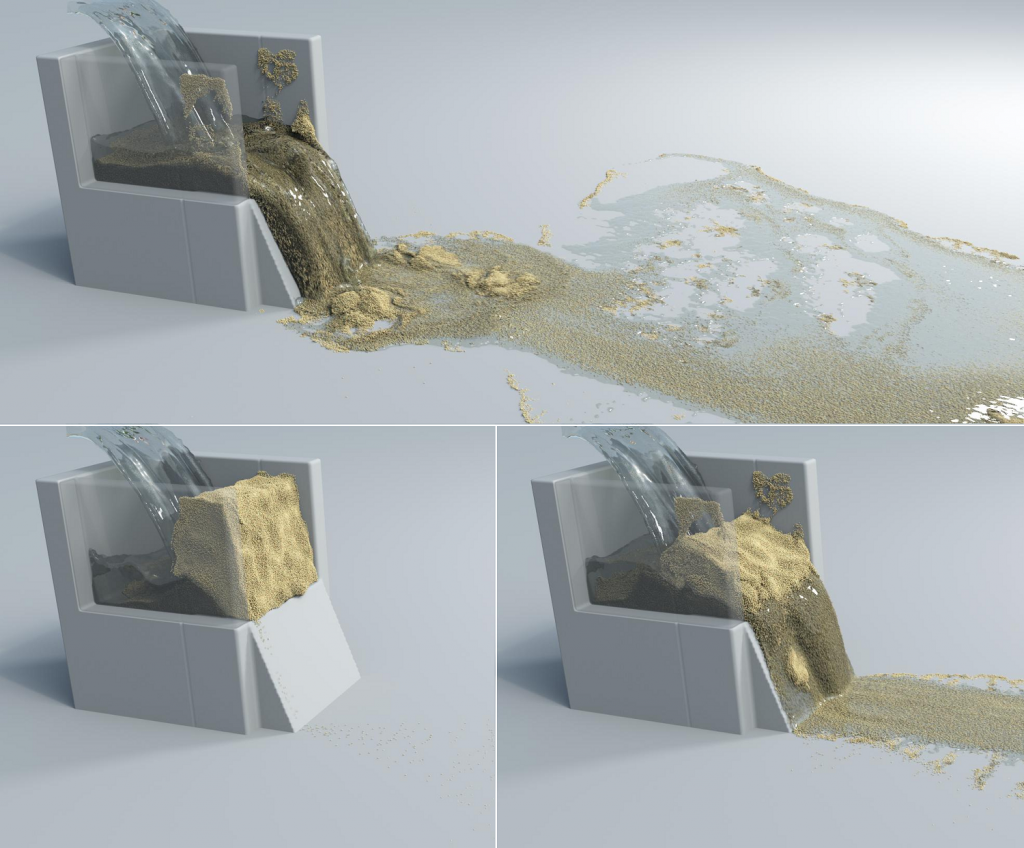Multi-Species Simulation of Porous Sand and Water Mixtures