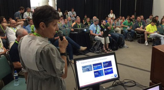 Prior ACM SIGGRAPH Carto BOF Presentation, Photo by Don Brutzman.