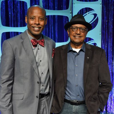 2017 Conference Chair Jerome Solomon with Keynote Floyd Norman
