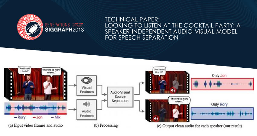 Looking to Listen: Technical Papers at SIGGRAPH 2018
