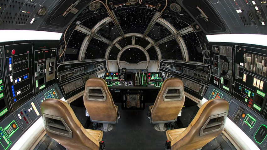 'Star Wars' Soars in Real Time: Behind 'Millennium Falcon'